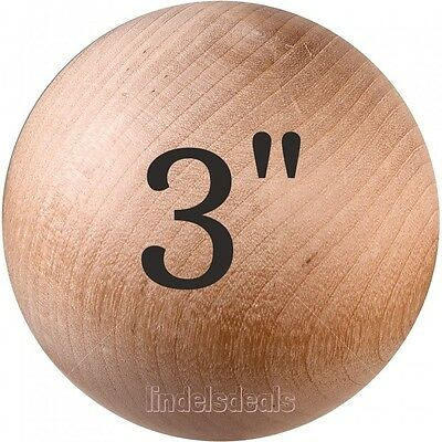 """3"""" Wood Balls Unfinished Solid Hardwood / BUY 3 BALLS AND GET 1 BALL FREE!"""