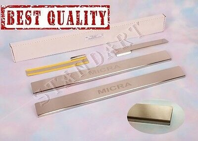 Nissan MICRA K12 5D 2003-2009 Stainless Steel Door Sill Guard Scuff Protectors
