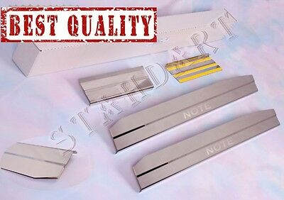 Nissan NOTE 2005-2012 4pc Stainless Steel Door Sill Guard Cover Scuff Protectors
