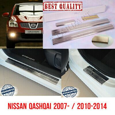 Nissan QASHQAI 2007-2017 Stainless Steel Door Sill Guard Cover Scuff Protector