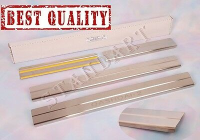 Nissan QASHQAI +2 2008-14 Stainless Steel Door Sill Guard Cover Scuff Protectors