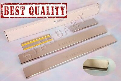 Nissan TIIDA C11 2004-11 Stainless Steel Door Sill Guard Cover Scuff Protectors