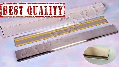 OPEL ASTRA J GTC 2011-15 Stainless Steel Door Sill Guard Cover Scuff Protectors