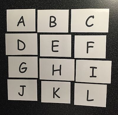 Capital Letters Alphabet Flash Cards ABC Reading/Writing EYFS/Primary/Reception