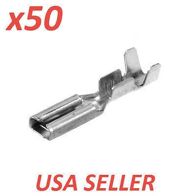 (x50) NON-INSULATED BLADE CRIMP TERMINALS, 2.8MM, 16-20 AWG