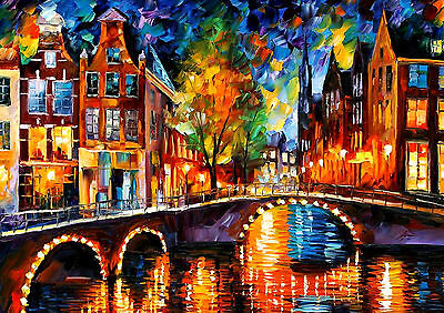 Abstract Art Oil Painting River Wall Art - One Piece Poster (A1 - A5 Sizes)
