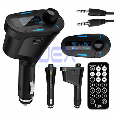 In-Car Cigarette Lighter MP3 Player/Phone to Radio FM Transmitter Modulator Blue