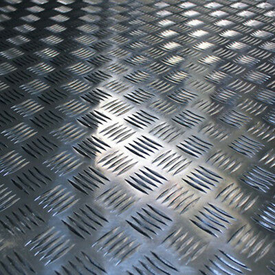 Aluminium Checker Plate / Tread Plate - 2mm Thickness Various Sizes Available