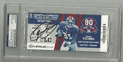 Odell Beckham Jr. Ip Auto Signed Suite Ticket The Catch Giants Psa/dna Slabbed