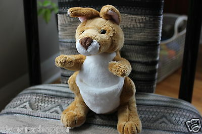 WEBKINZ*Plush/Stuffed/Beanbag*KANGAROO*With Pouch*NO CODE*NEW*