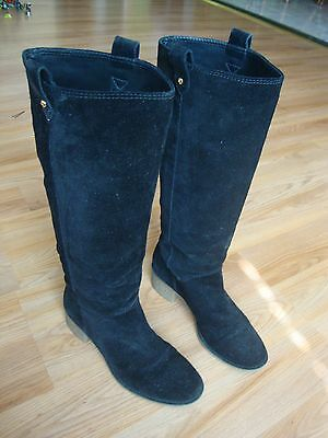 b0482b198cd Kate Spade Black Suede Knee High Women s Boots Size 7 M Made In Brazil