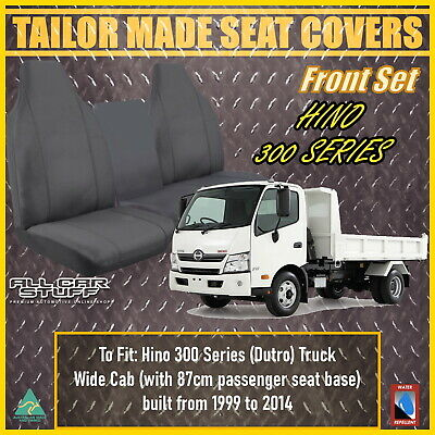 Hino 300 Wide Cab Truck (Bucket & 3/4 Bench): Waterproof Canvas Seat Covers