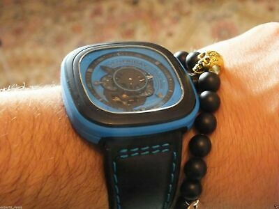 Namaste Jewelry Skull Black Agate Stone Bead with Yoga Gold Ball Bracelet Watch