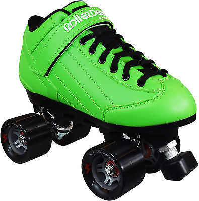 Roller Derby Stomp Factor Mens Ladies Quad Fashion Roller Skates GREEN US Size 7
