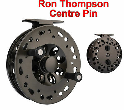 RON THOMPSON DIE CAST CENTRE PIN 110mm REEL FOR GAME FLY ROD FISHING - 48980