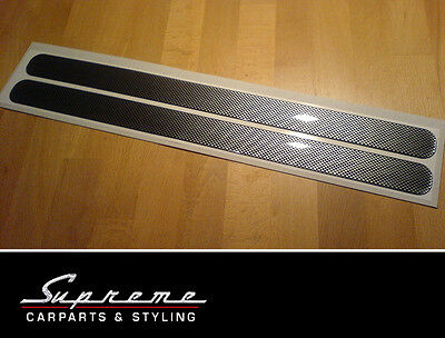 Bumper Socket strips - 2 Pcs 430x33mm - Carbon Look, universal can be used
