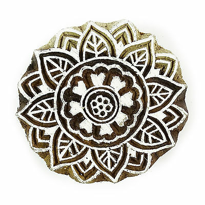 Wooden Printing Blocks Indian Hand Carved Textile Fabric Stamps 2811