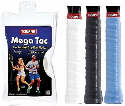 Tourna Mega Tac Tennis Badminton XL Overgrip - Black - The Tackiest Grip