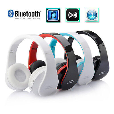 Fashion 3.5mm Wireless Bluetooth Earphone Stereo Foldable Headset For Cell Phone