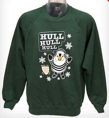 NEW Hull FC Airlie Birds Christmas Xmas Sweatshirt/Sweater/Jumper/Top-Green-S/40