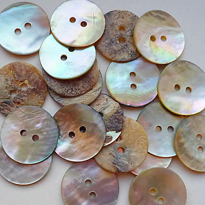 Buddly Crafts Mother of Pearl Shell Buttons