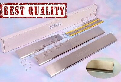 Dacia LOGAN 2012- Stainless Steel Door Sill Guard Scuff Protectors Renault 4pcs