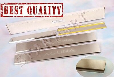 Renault LAGUNA III 2007- 4pcs Stainless Steel Door Sill Guard Scuff Protectors