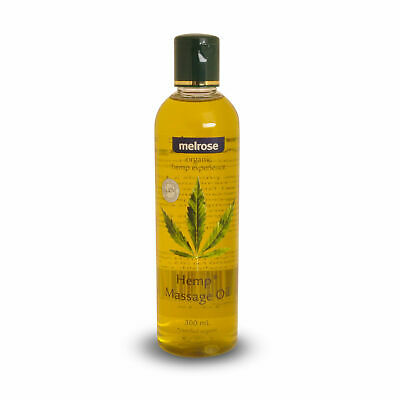 Melrose Organic Hemp Massage Oil 300ml Deeply Moisturising & Gentle Body Oil