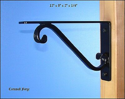 "Wrought Iron Bracket - Corbel - 12""x8"" Granite - Marble  Mantel  Shelf  Support"