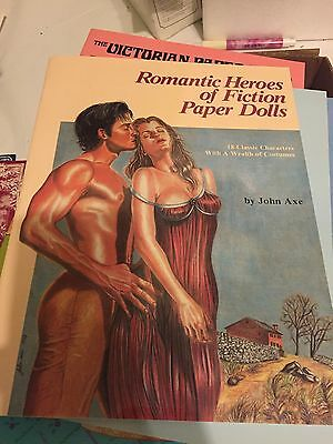 Romantic Heroes Of Fiction Paper Doll Book John Axe
