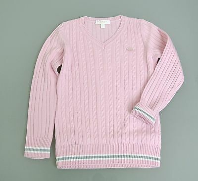 aca0f40d2 New Authentic Gucci Wool/Cashmere Sweater Top w/Script Web, Pink, 2