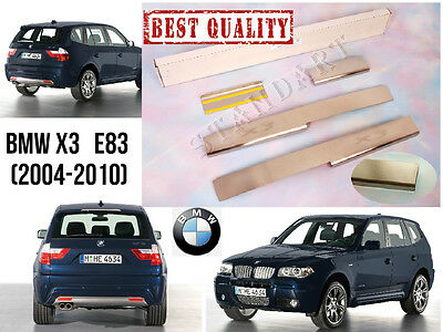 BMW X3 E83 2004-2010 4pcs Stainless Steel Door Sill Guard Scuff Protectors