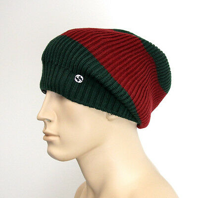 NEW GUCCI WOOL Beanie Hat w Interclocking G w Tag Green Red 310777 ... b3683e49202