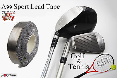 "A99 Sports Lead Tape Golf Club/Tennis Rackets 100"" X 1/2"" Self Adhesive"