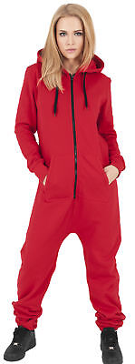 Jumpsuit TB1077 Ladies Sweat Overall red/blk