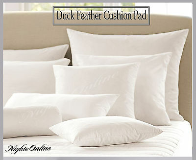 """Hotel Quality Duck Feather Cushion Pads Inners Inserts Fillers 16 18 20 22 & 24"""""""
