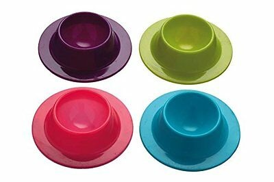 Kitchen Craft Colourworks Silicone Egg Cup Set of 4 New Gift UK SELLER