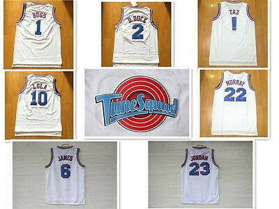 Space Jam Tune Squad Basketball Jerseys All Size Black , White And Get Free Gift