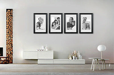 "4  pieces 16x20"" 40x50 cm frames wall art collection picture frame white present"