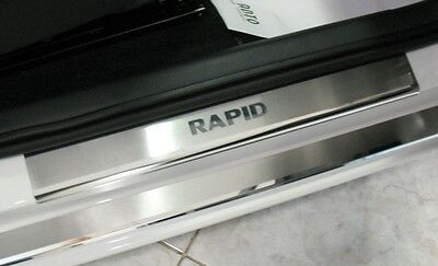 SKODA RAPID 2013- 8pcs Stainless Steel Door Sill Guard Cover Scuff Protectors