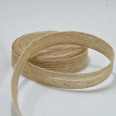 10M Natural Jute Hessian Burlap Ribbon Rustic Wedding Floristry Decor Wrapping