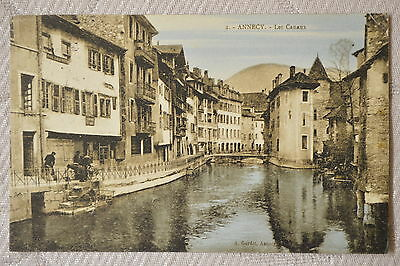 """CPA """" ANNECY - Les Canaux"""