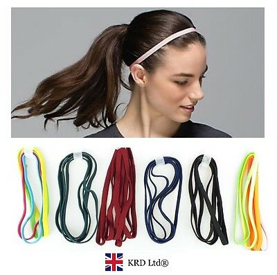 2x Snag Free Elastic Head Bands Hairbands Ladies Girls School Sports Gym Hair UK