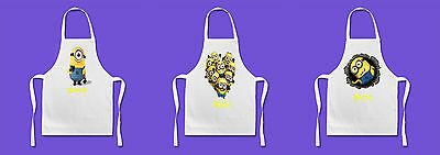 Personalised Apron - Minions - 3 Styles - Named Apron - Children & Adult Sizes