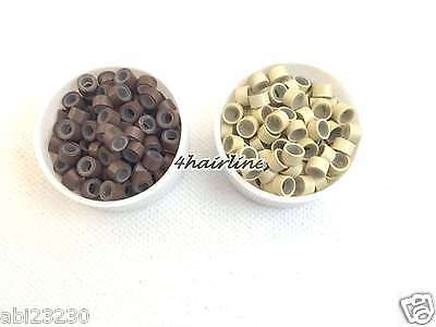 Silicone Lined Micro Links Rings I Tip Bonds Fusion Hair Extensions