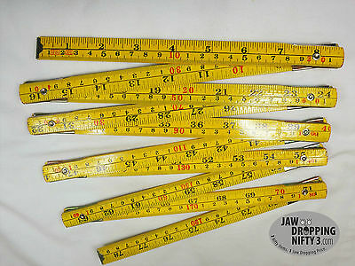 NEW FOLDING EXTENSION Wood Ruler Meter Stick 79 inches ~ 2 Meters
