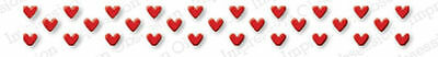 MINI HEART ROW DIE-Impression Obsession (134D) suitable for most die cutters