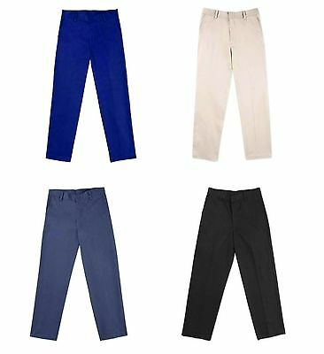 NEW George Boys' Flat Front Uniform Pants, Choose Size/Color, GB