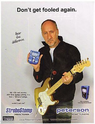 Peterson Strobe Tuners - The Who - Pete Townshend - 2004 Print Advertisement