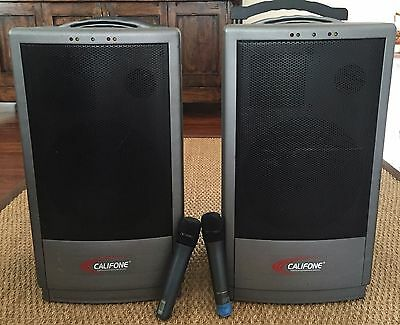 Califone PA-916 with second speaker and 2 wireless microphones